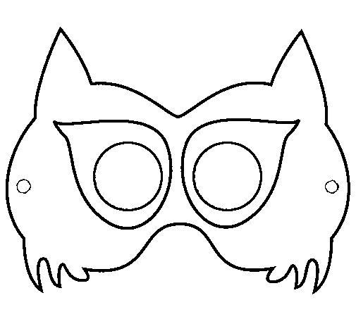 Dibujo de Máscara de mapache