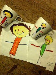 We lieten de vierjarige zoon een tekening maken van zijn oma en opa.