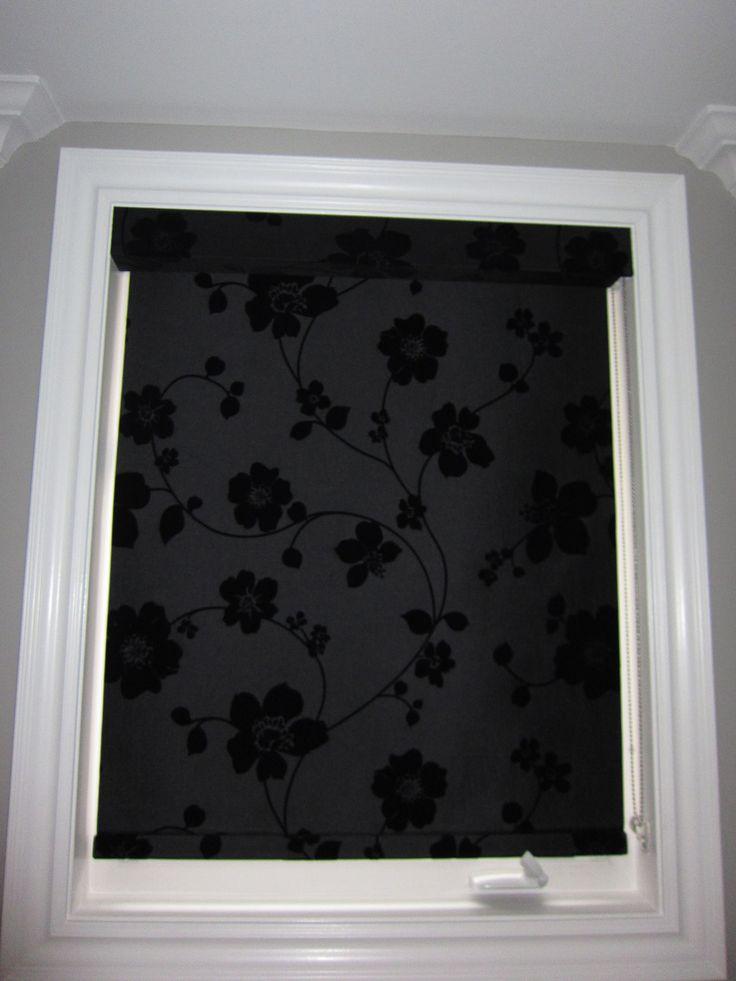 29 best patterned roller shades images on pinterest. Black Bedroom Furniture Sets. Home Design Ideas