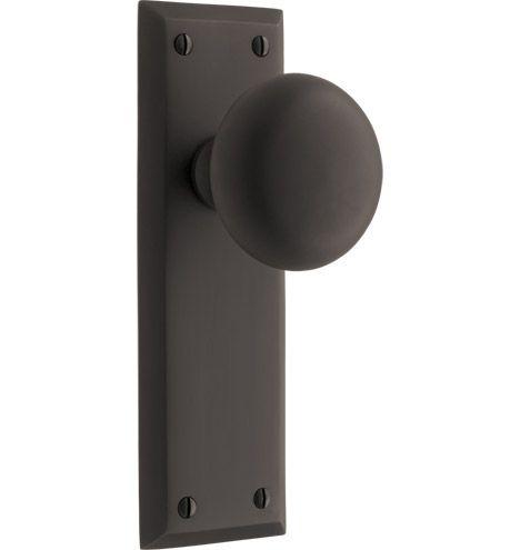 INTERIOR DOOR HARDWARE:  Putman Interior Door Set Classic Door Set in Oil Rubbed Bronze by www.rejuvenation.com - $155 each