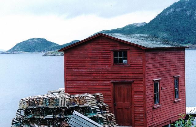 A weathered seaside fishing shack - Newfoundland, Canada