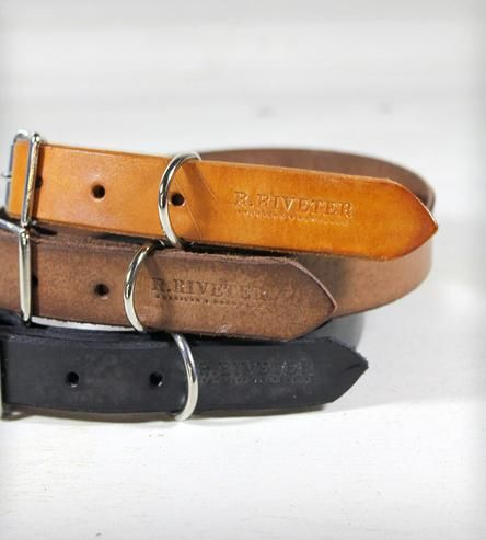 Leather Dog Collar | This high-end, classic dog collar is made from vegetable-tanne... | Dog Collars & Harnesses