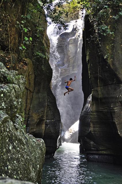Gorge Jumper, Flores, Indonesia