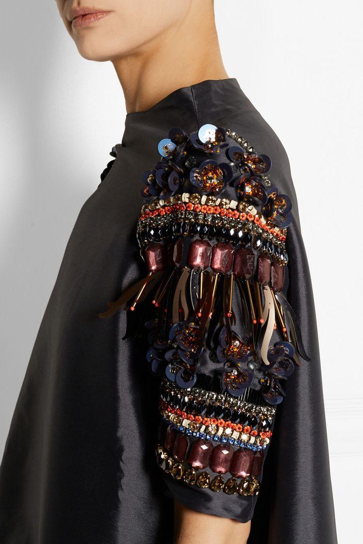 Biyan | Alana embellished shantung dress | NET-A-PORTER.COM