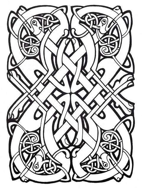 Celtic Design 60 Color THIS Pinterest Celtic designs Celtic Stunning Celtic Knot Patterns