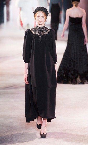 Russian style in fashion. Design by Ulyana Sergeenko.