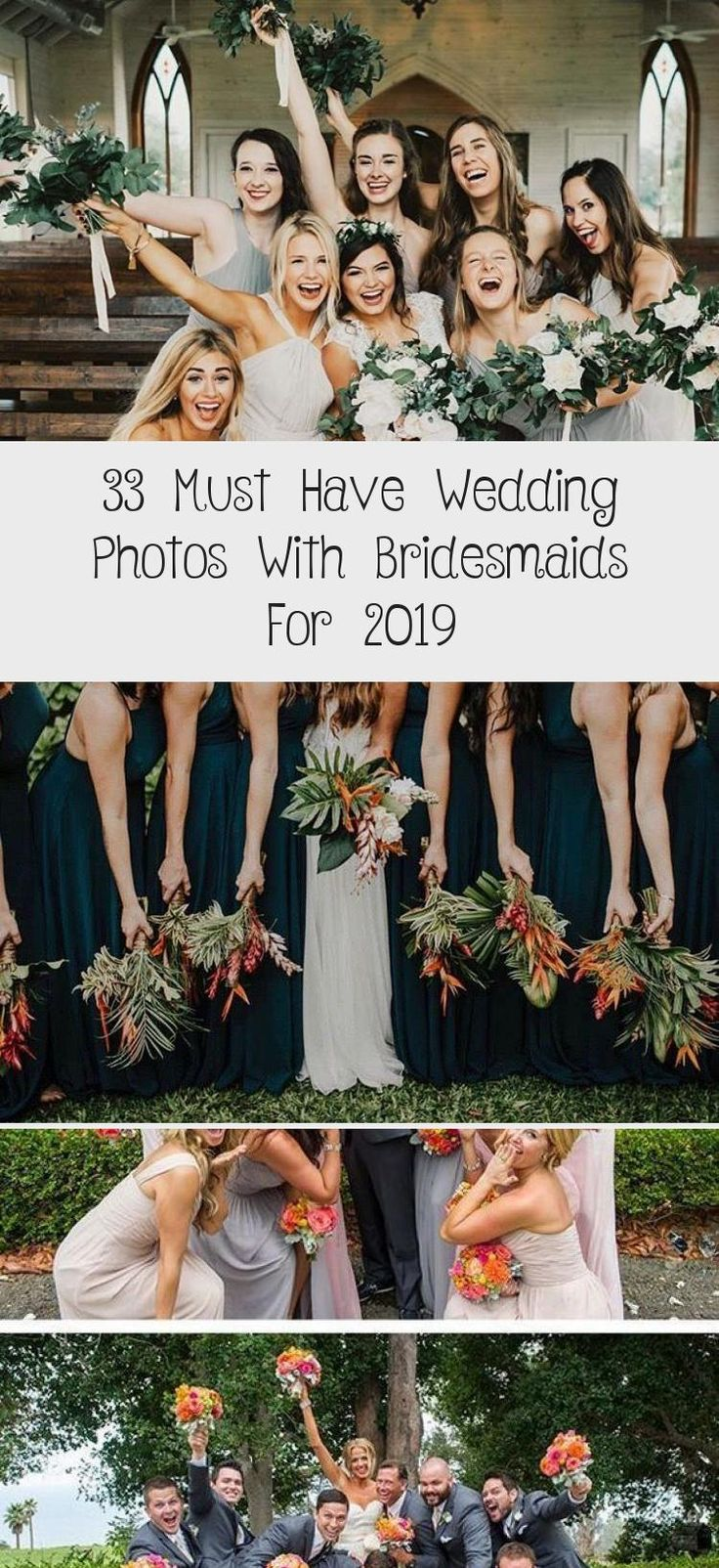 33 Must Have Wedding Photos with Bridesmaids for 2019 #DavidsBridalBridesmaidDresses #RedBridesmaidDresses #BridesmaidDressesFall #BridesmaidDressesSummer #BridesmaidDressesSpring