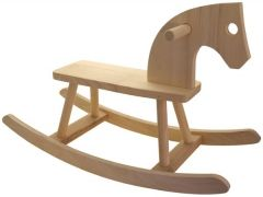 Dřevěný houpací kůň