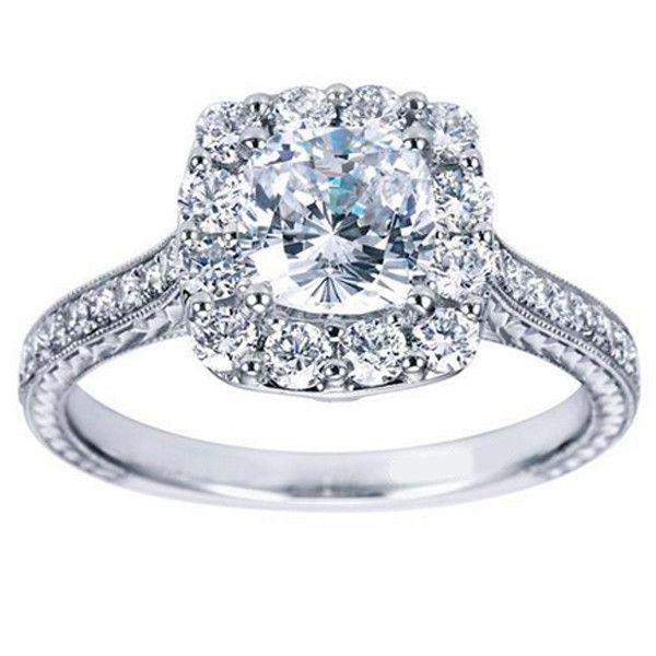 "Ben Garelick 14K White Gold Royal Celebrations ""Lila"" Cushion Halo · ER7500W44JJ · Ben Garelick Jewelers"