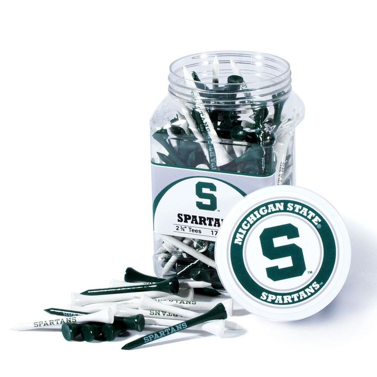 Team Golf Michigan State Spartans 175-ct. Golf Tee Jar, Multicolor