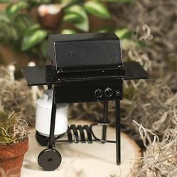 Dollhouse Miniature Black BBQ Gas Grill - Miniature Furniture - Dollhouse Miniatures - Doll Making Supplies - Craft Supplies
