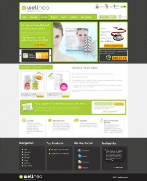 Website Design for Health Company