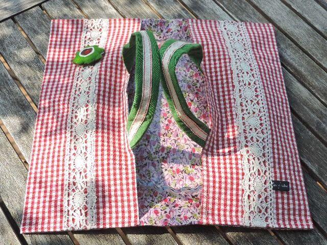 Sac à tarte en tissu modèle Bécassine : Autres sacs par les-p-tites-cueillettes