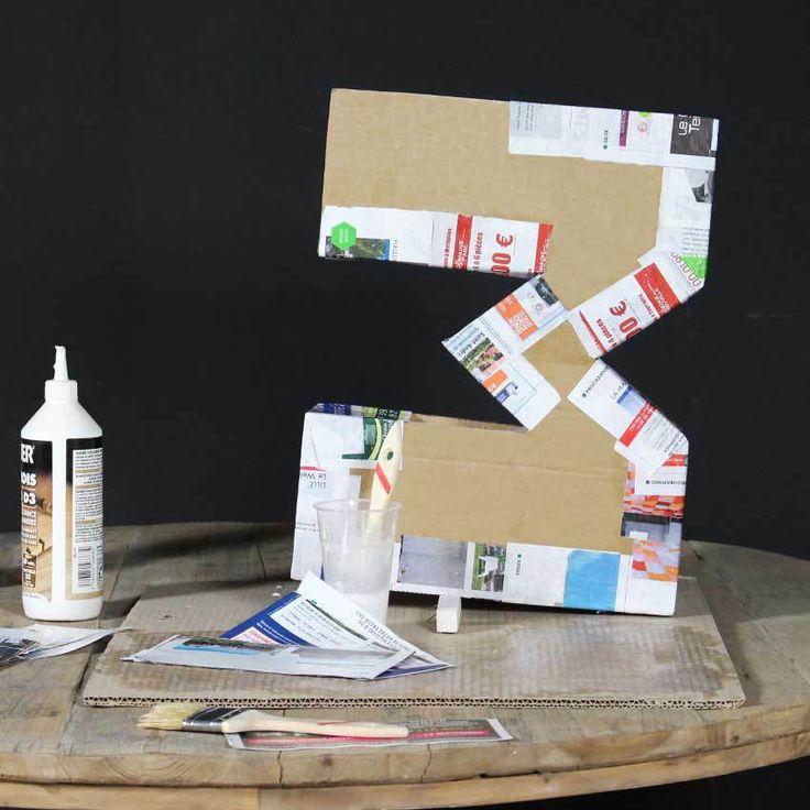 Notre tuto étape par étape pour créer un objet de décoration original en recyclant vos cartons !