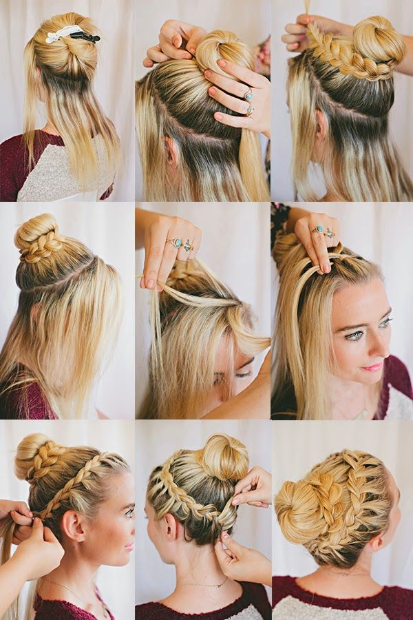 Learn Here: Striking Double Braided Hairstyle Tutorial Step By Step ~ Girly Island