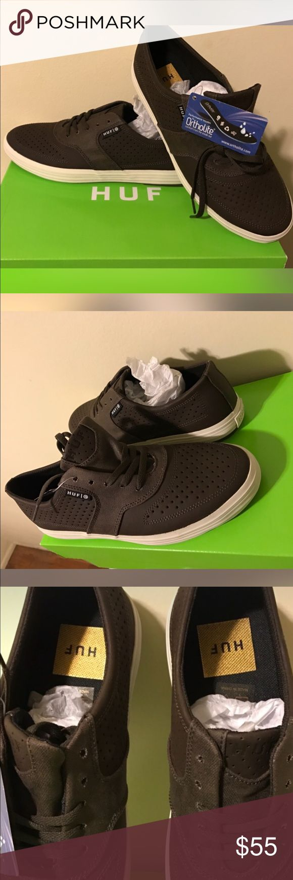 BROWN HUF SHOES BROWN HUF SHOES --MEN'S SIZE 8. NEVER WORN!!!  -- BOX AND TAGS HUF Shoes Sneakers