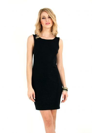 Αμάνικο lurex φόρεμα με ανοιχτή πλάτη και φιόγκο. | ΦΟΡΕΜΑΤΑ :: ZicZac