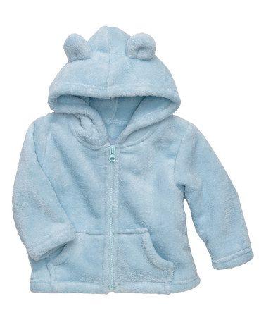 Love this Pastel Blue Zip-Up Hoodie by Elegant Baby on #zulily! #zulilyfinds