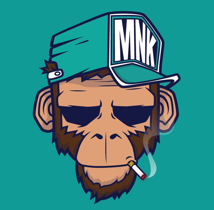 #monkey #illustration #smoke