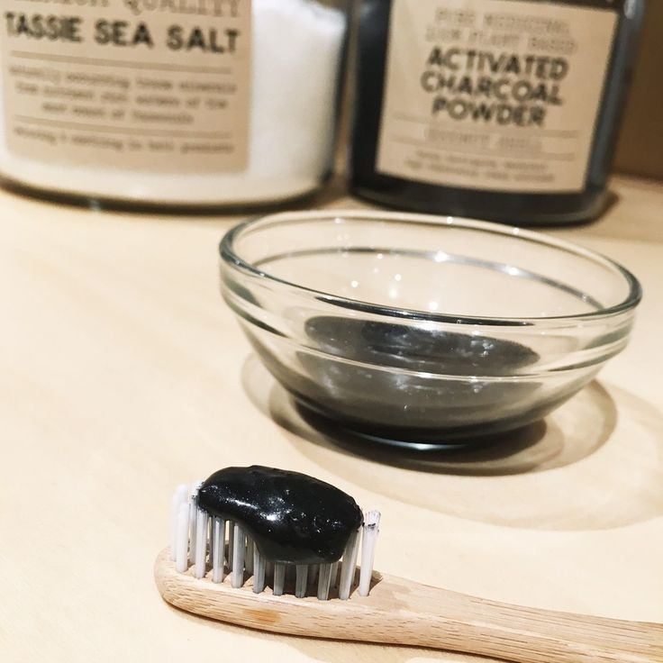 Charcoal Toothpaste Recipe ○ 1/4 cup baking soda, 2 teaspoons Bentonite Clay, 1 teaspoon activated charcoal, 1/2 teaspoon sea salt, 2-3 teaspoons coconut oil, 6-8 drops of peppermint essential oil (1) Mix bi-carb, clay, charcoal, & salt in a glass jar. (2) Melt the coconut oil & add gradually, mixing until a paste. (3) Mix in peppermint oil to taste.