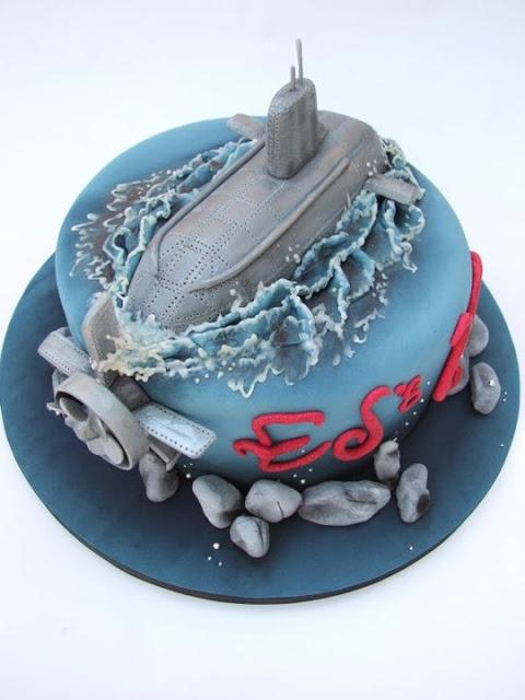 Make A Submarine Shaped Cake