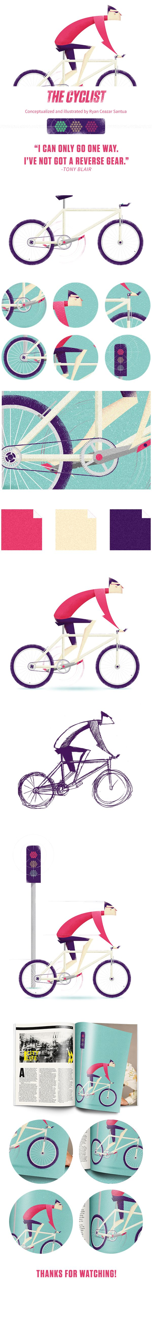 The cyclist on Behance