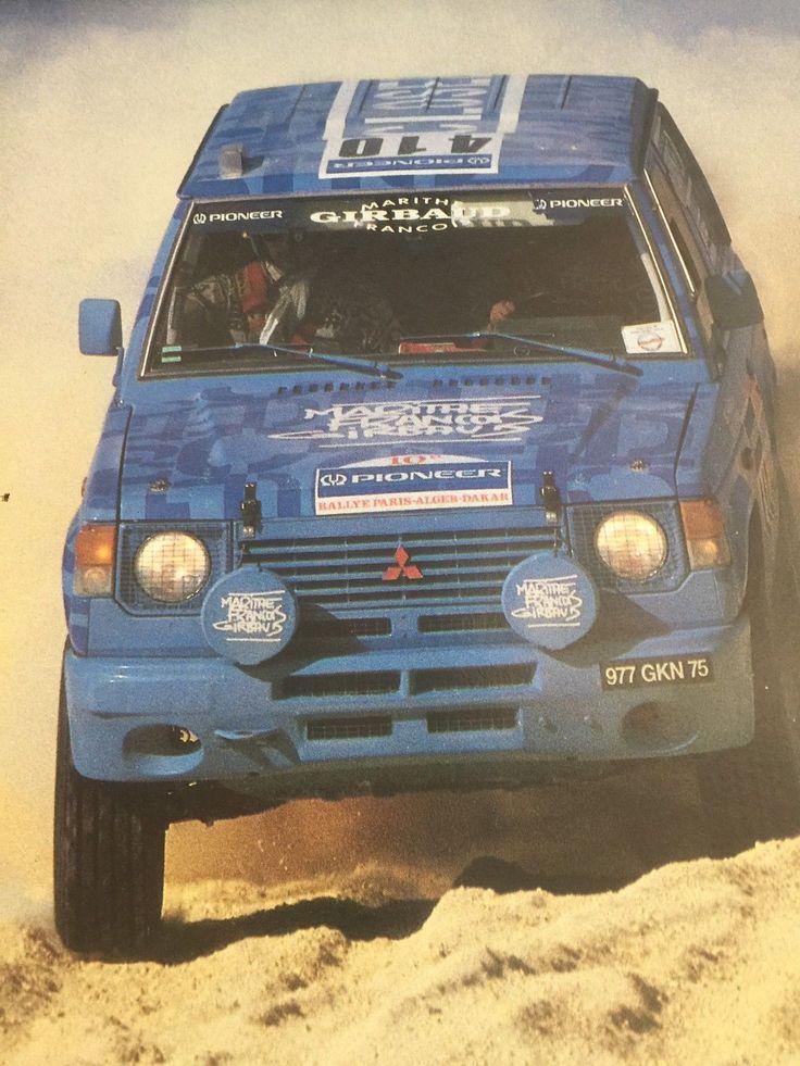 RARE POSTER A4 MITSUBISHI PAJERO N°410 Rally Paris Dakar in   eBay