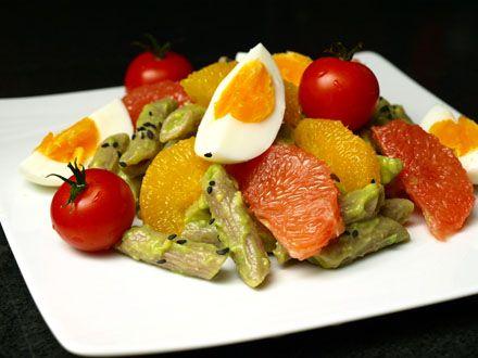 Salade de pâtes à la crème d'avocat