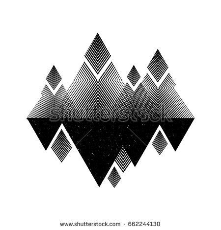 Geomerty design composition.Vector geometric triangle background, abstract mountains.Conceptual background.Flat design, with minimal elements.Use for card, poster, brochure,banner,web. UFO print.