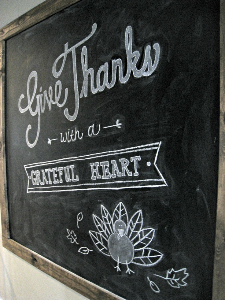 The Lily Pad Cottage: Thanksgiving Chalkboard