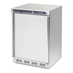 Congelador bajo mostrador de acero inoxidable 140L. Polar