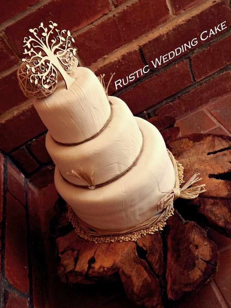 Round Wedding Cakes - Rustic, country wedding cake
