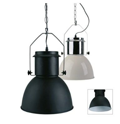 Industriedesign Lampe 42cm Chrome Weiß Hängelampe im Industriedesign Lampe Industrie: Amazon.de: Beleuchtung