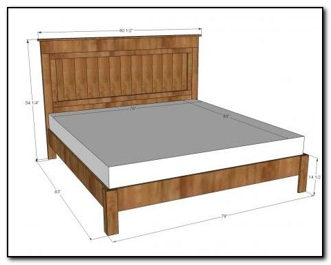 full size bed frame dimensions diy - How To Make A Full Size Bed Frame