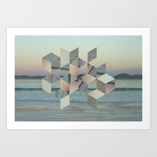 Beach+Cubes+Art+Print+by+Lapinlune+-+$16.48