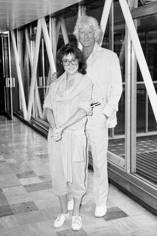 Actor Jon Pertwee, a former Dr Who, and actress Elisabeth Slacia, who played his companion in the series.