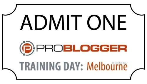 Problogger training day Melbourne  http://youngdigitalgroup.com.au/virtualpbevent/