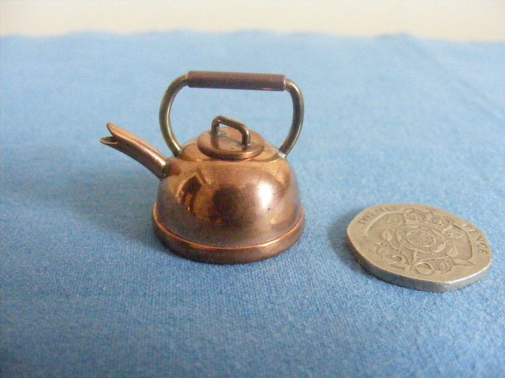 Dolls House Miniatures Copper Kettle Craftsman Hand Made 12th Scale   eBay