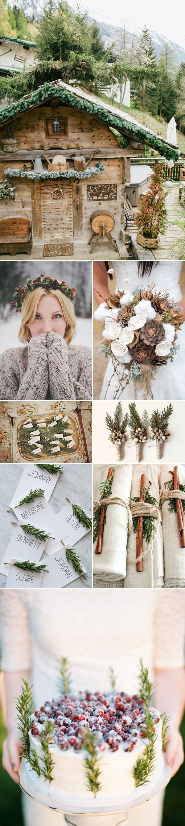 Rustic Mountain Winter Wedding Ideas and Inspiration | via junebugweddings - my ideal wedding would be similar ;o)