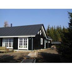 Bjælkehus model Fuglsøvig - bjælkehusets indvendige mål er 77,61m2 - 6 rum - 15,5m2 hems