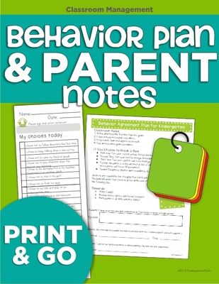 Behavior Plan and Parent Notes from KindergartenWorks on TeachersNotebook.com -  (11 pages)  - Parent-friendly note to send home and classroom behavior plan.