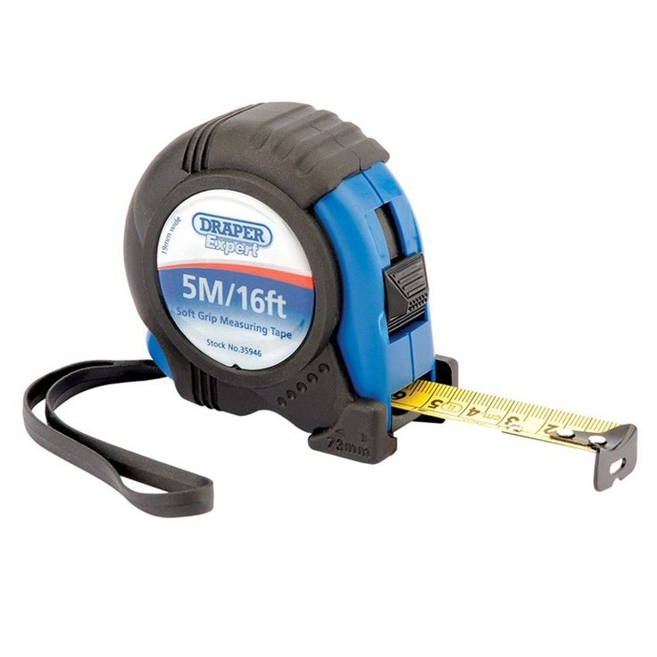 Draper Expert 5M/16ft Soft Grip Heavy Duty Measuring Tape
