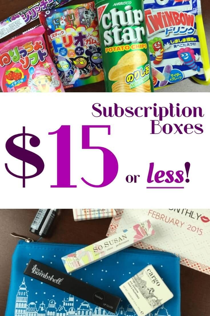 inexpensive subscription boxes