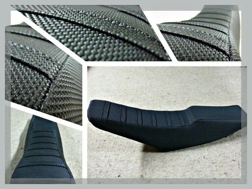 Yamaha motocross seat. Covered with gripper motox vinyl - custom designed by customer executed by me.