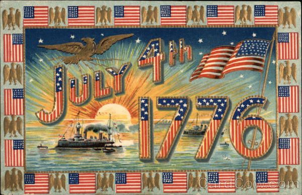 July 4th - 1717 - United States Flags & Eagle 4th of July. Great site for vintage postcards and images. In love!