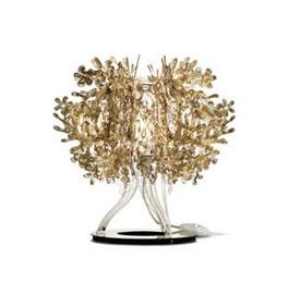 SLAMP - FIORELLA table lamp in gold.. designed by Nigel Coates