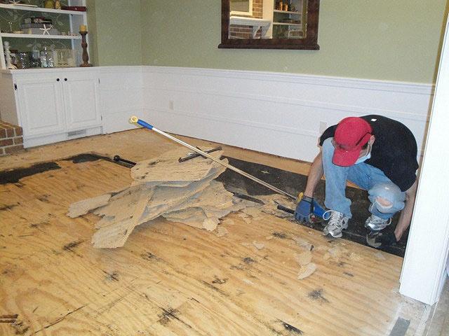 Preparing to Install Antique Heart Pine Floor