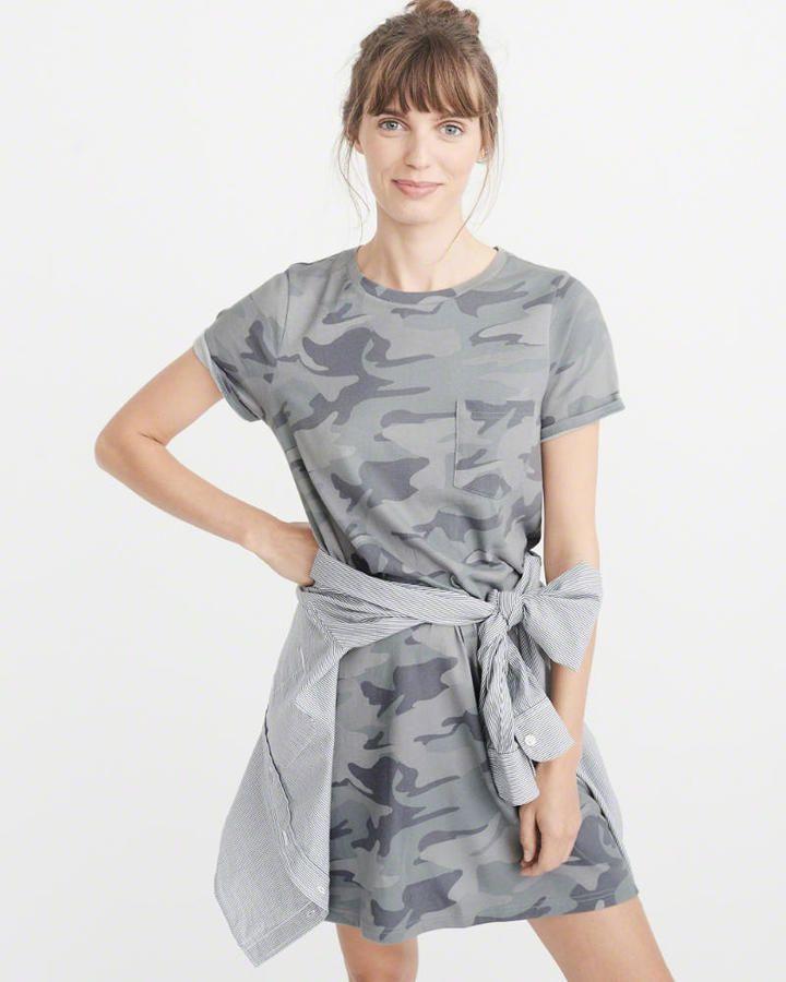 Abercrombie & Fitch Pocket T-Shirt Dress