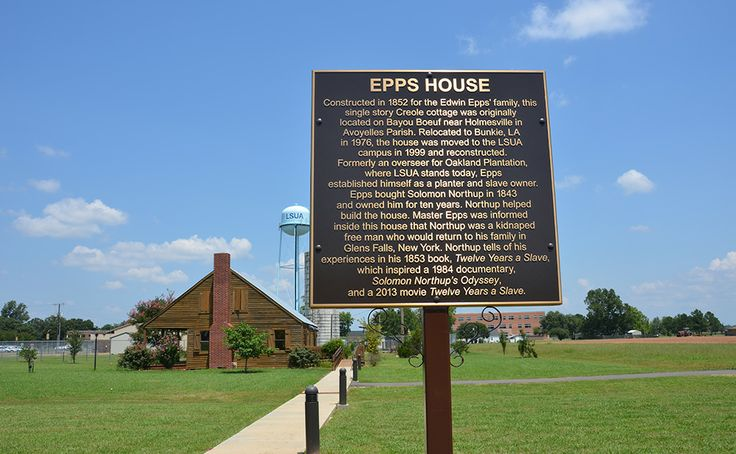 """sign in front of Epps House.  Plantation house from """"12 Years a Slave."""""""