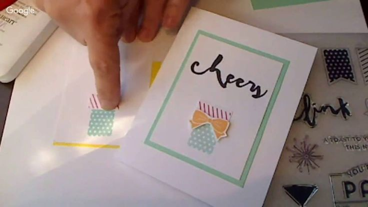 Quick How-to Card Vid for a cute little card using #CTMH Stamp of the Month by #marygunnFUNN